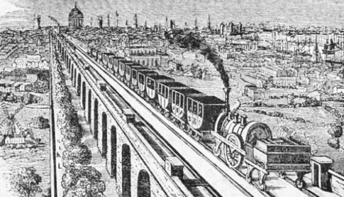 London and Greenwich viaduct and railway