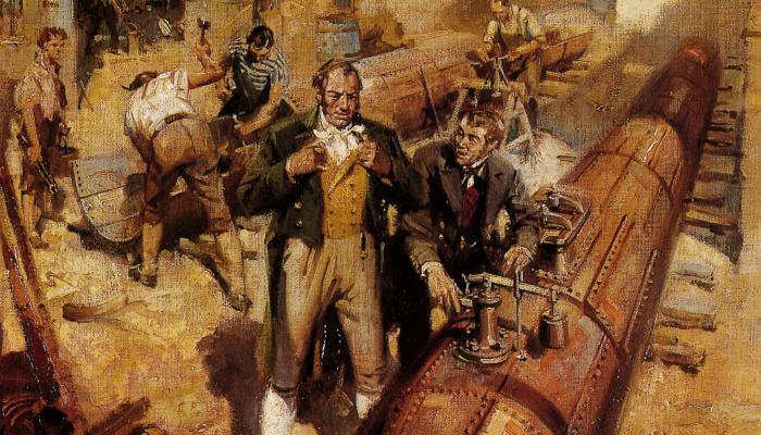 Richard Trevithick - first high-pressure steam engine