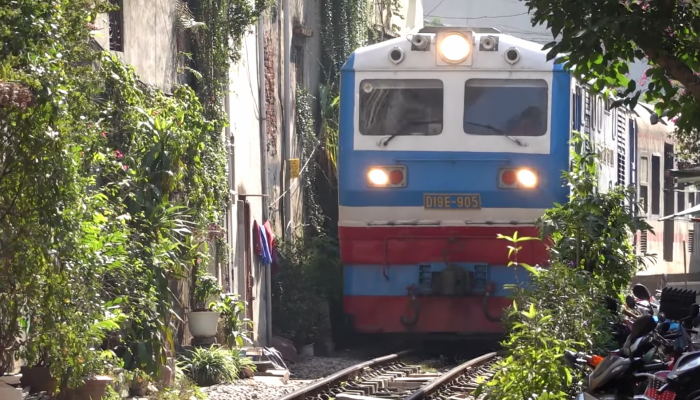 tracks were laid back in 1902 during the time of French colonial rule