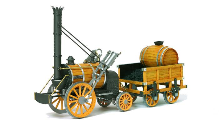Stephenson's Rocket 1829 - fastest locomotive 30 mph