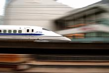 First bullet train in 1964 in Japan